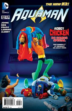 Aquaman Kicks Justice League Butt On This 'Robot Chicken' Variant Cover