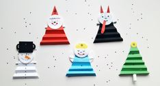 Mikulášské papírové tvoření s dětmi Christmas Crafts For Kids, Christmas Holidays, Christmas Ornaments, Bee Crafts, Diy And Crafts, Air Dry Clay, Birthday Candles, Activities For Kids, Games