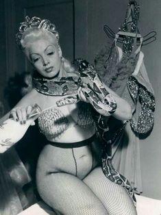 Zorita feeding her snake 1952 Burlesque Show, Vintage Burlesque, Vintage Circus, Cabaret, Pin Up, Showgirls, Look At You, Up Girl, Naha