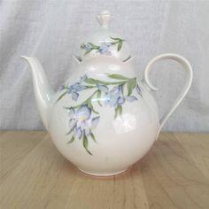 Scherzer Bavaria Germany Purple Flowers Iris Irises 1 Teapot with Lid 8 Inches | eBay