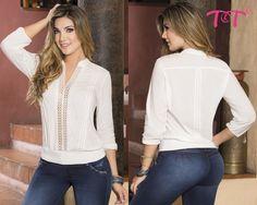 Detalles de guipure dan un toque de elegancia y feminidad a tu look, combínala sin problema con tu jeans T&T.  Ingresa a www.jeanstyt.com y realiza tu compra ahora #BlusasTyt #TytJeans #YovistoTyt