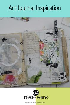 Looking for art journaling inspiration? Check out this video where artist, Roben-Marie Smith shares her process for visual art journaling with paper collage and mixed media. Jump start your creativity!