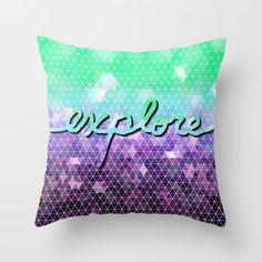 explore Throw Pillow Cover by Lisa Argyropoulos (pillow inserts available for purchase with cover)