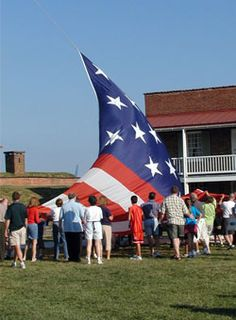 Fort McHenry - near Baltimore - where Francis Scott Key penned the Star Spangled Banner.  Take part in this, so cool.  You can buy a flag and they will fly it over the fort for you, with the Star Spangled Banner.  :)