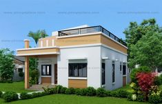 In this chance i will discuss with you about one storey house with roof deck that you can choose to built your dream home, With the skyrocke. Green House Design, Simple House Design, Modern House Design, Deck Design, Bungalow Haus Design, Modern Bungalow House, Best House Plans, Small House Plans, Tiny House