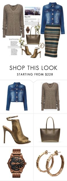 """""""Denim Jacket"""" by terry-tlc ❤ liked on Polyvore featuring Burberry, Philipp Plein, ATM by Anthony Thomas Melillo, L.A.M.B., Lacoste, Diesel and Wyld Home"""