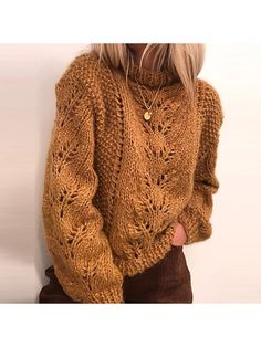 Elisabeth sweater pattern by Siv Kristin Olsen Ravelry: Elisabeth genser pattern by Siv Kristin Olsen Gilet Crochet, Knit Crochet, Ravelry, Chunky Oversized Sweater, Sweater Knitting Patterns, Knit Fashion, Mode Outfits, Pulls, Pullover Sweaters
