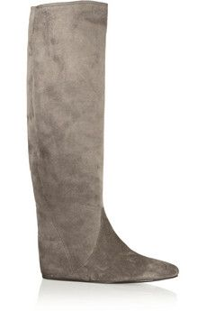 3c0e2e7f806 Lanvin - Suede concealed wedge knee boots