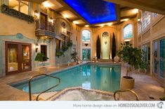 indoor to outdoor Swimming Pool | 20 Amazing Indoor Swimming Pools | Home Design Lover