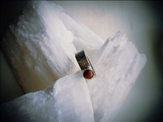 Ring   Zilveren ring met maansteen (perzik)