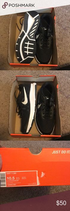 88c97da7572e Nike men s shoes size 10.5 Brand new black and white Nike shoes. These have  never