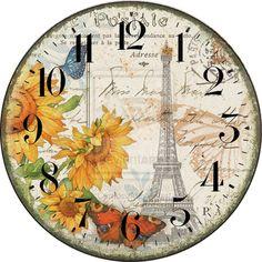 Wall Clock Art Retro Paris Vintage #04 by JairCardoso.deviantart.com on @DeviantArt