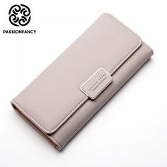 Cheap long leather wallet, Buy Quality leather wallet directly from China f wallet Suppliers: Fashion Elegant Women Long Leather Wallet Portable Multifunction Solid Color Purse Hot Female Change Purse Lady Clutch Carteras Pu Leather, Leather Wallet, Purses And Bags, Women's Bags, Coin Card, Change Purse, Elegant Woman, Wallets For Women, Cool Things To Buy