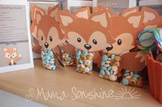 Little fox baby shower party box, fox party, baby party, girl shower, b Baby Shower Gift Bags, Baby Shower Party Favors, Baby Shower Games, Baby Shower Parties, Shower Gifts, Baby Boy Shower, Party Box, Fox Party, Baby Party