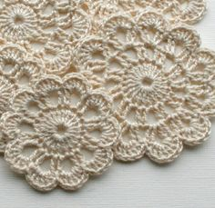 Crochet Doily Stickers, Gift wrapping, Scrapbooking and Cardmaking, Set of do łączenia / szydełko na Stylowi.The Stubborn Knitter Crochet Coaster Pattern, Crochet Flower Patterns, Crochet Flowers, Crochet Placemats, Crochet Doilies, Crochet Stitches, Crochet Home, Crochet Gifts, Crochet Vintage