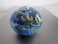 Spinning Earth Glass Paperweight by nautical2004 on Etsy, $25.00