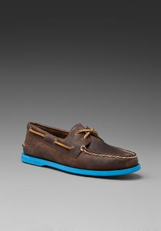 Sperry Top Sider. THE original boat shoe with a kind of more daring touch. You sure won't be seeing these twice!