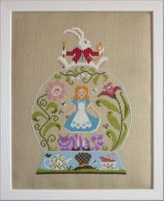 Purchased this chart today at The Crewel Gobelin - Jardin Prive'  - Alice au pays des Merveilles alice in wonderland snow globe