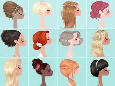Inspiração para penteados de noivas por Adrian Valencia (http://www.adrianvalencia.com/index/adrian_valencia_illustrator.html)