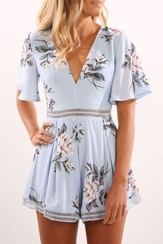 Let You Know Playsuit Blue