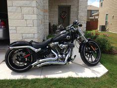 2013 Harley Breakout with big radius exhaust! :)