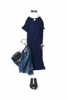 Kyoto Kikuchi's Closet #kk-closet ネイビーをロックに Classy Outfits, Chic Outfits, Summer Outfits, Fashion Outfits, Modest Fashion, Boho Fashion, Fashion Looks, Wardrobe Sets, Fashion Capsule