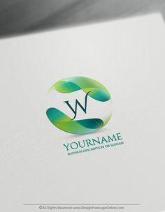 Create a 3D Logo Free – Flowing Alphabet Letter Logo Template Online Templates, Logo Templates, Create A Logo Free, Waves Symbol, Branding Design, Logo Design, Sun Logo, Online Logo, Free Design