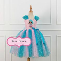 LOL Doll Splash Queen Inspired Dress - Handmade Tutu Dress - Splash Queen Fancy Dress - Splash Queen Costume - Birthday Party Outfit -LOL Doll Outfit Costume Birthday Parties, Birthday Party Outfits, Queen Outfit, Queen Dress, Queen Costume, Doll Costume, Robes Tutu, Tutu Dresses, Girls Dresses