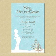 Baby It's Cold Outside...Winter Wonderland Baby Shower Invitation (Neutral - Boy/Girl)