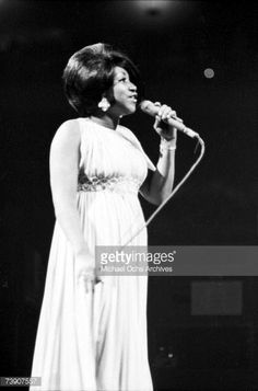 News Photo : Soul singer Aretha Franklin performs onstage at...