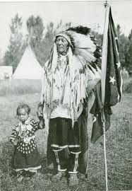 Crow Chief Plenty Coups & child.