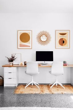 Ellie Bullen of Elsa's Wholesome Life's Gold Coast home – Chic Home Office Design Home Office Space, Home Office Design, Home Office Decor, Office Spaces, Office Ideas, Work Spaces, Office Inspo, Entryway Decor, Office Furniture