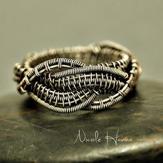 Oxidized Wire Wrapped Knot Ring