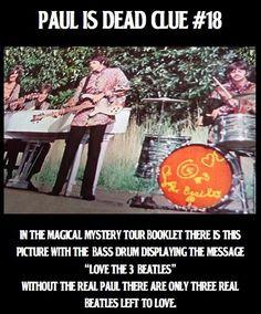 Paul is dead clue #18. | conspiracy - Paul McCartney | Pinterest