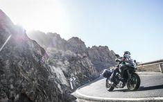 Download wallpapers 4k, Ducati Multistrada 1260, road, 2018 bikes, rider, new Multistrada, superbikes, Ducati