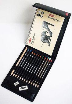 Derwent Pencil Sketching Wallet