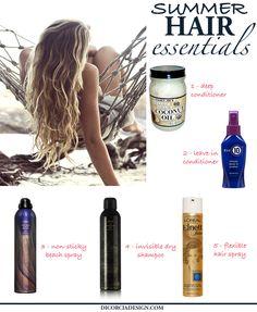 Summer Hair Beauty Essintials