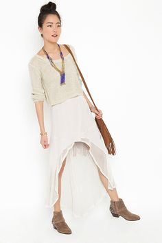 I love sheer dancer-like stuff.  and paired with contrasting texture?  even better.  www.nastygal.com