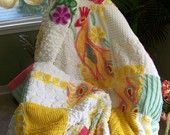 chenille throw on etsy