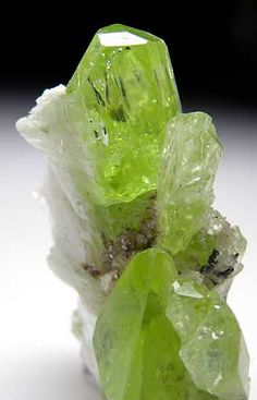Calcite on Diopside Merelani Hills, Lelatema Mountains, Arusha Region, Tanzania miniature - 3.8 x 3.5 x 1.8 cm
