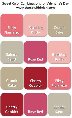 Sweet Color Combinations for Valentine's Day, Browns, Stampin' Up!, Brian King
