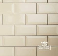Buy Bevel wall tiles - in cream, red, black or white, Interior ceramic wall tiles - Bevel wall tiles, perfect for Victorian kitchens and bathrooms Metro Tiles Kitchen, Subway Tile Kitchen, Stone Kitchen, Kitchen Wall Art, Kitchen Backsplash, Subway Tiles, Kitchen Reno, Kitchen Remodel, Kitchen Design