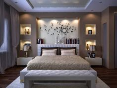 Image of: modern bedroom wall designs master bedroom image of modern bedroom wall decor cute Bedroom False Ceiling Design, Bedroom Wall Designs, Luxury Bedroom Design, Bedroom Bed Design, Bedroom Furniture Design, Bedroom Ceiling, Small Room Bedroom, Small Living Rooms, Bedroom Colors