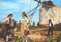 RIBATEJO, PORTUGAL. Moinho e folclore