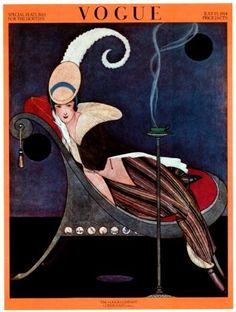 Vintage Vogue revista cubre cartel julio 1914 por nitashmita