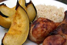Honey Roasted Acorn Squash and Chicken