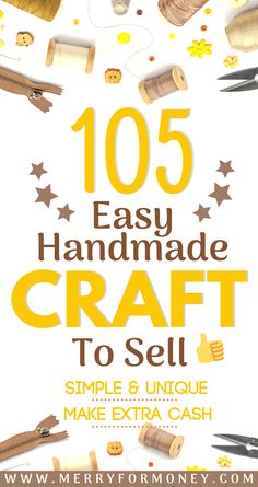 105 epic DIY crafts to make n sell because they are creative, cheap & easy to make. 105 craft project ideas, step by step tutorials to sell on Etsy & craft fairs markets. Find unique crafts that make money! Make extra money from home. Sell for extra cash. Diy Gifts To Sell, Easy Crafts To Sell, Diy Projects To Sell, Sell Diy, Craft Projects, Project Ideas, Money Making Crafts, Cheap Gifts, Sewing Projects