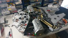 Lego Falcon, Star Wars Models, Lego Models, Millennium Falcon, Lego Star Wars, Geek Stuff, Tumbler, Projects, Concept