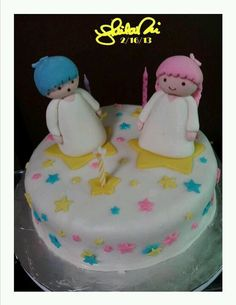 Little Twin Star birthday cake except for boy  toppers (ordered from Baker's World because I was pressed for time) - Sanrio  By Sheila Marie Matienzo
