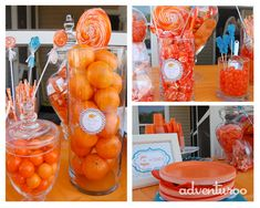 Orange & teal baby shower!